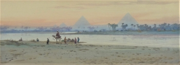 Pyramids at Karz, Egypt, Augustus Osborne Lamplough