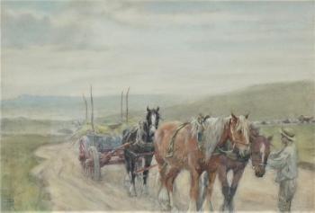 Heavy Horses and Haycart, Nathaniel Hughes John Baird