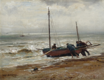 Launching the Boat, William Kay Blacklock